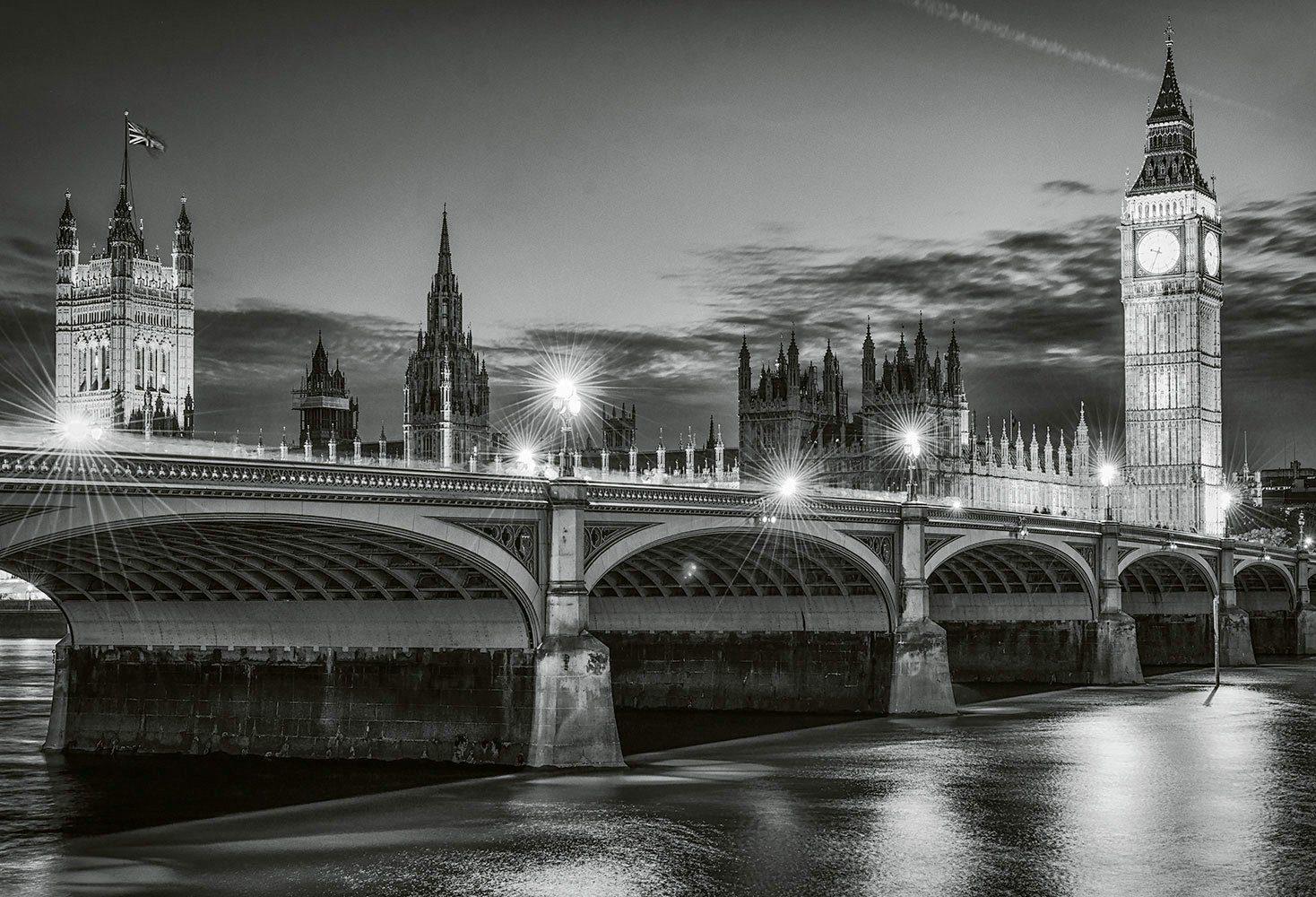 IDEALDECOR Fototapete »Big Ben at Night«