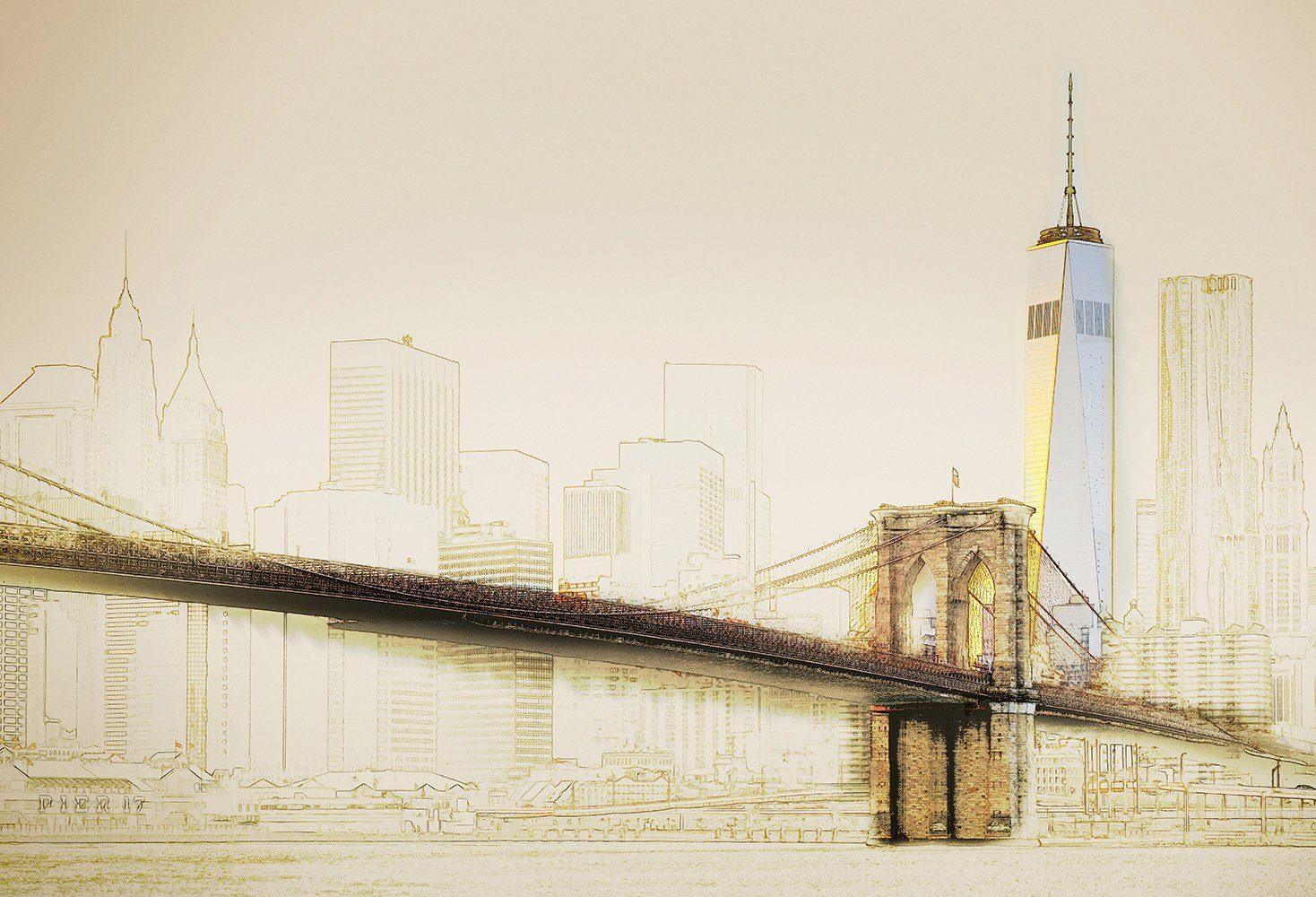 IDEALDECOR Fototapete »New York Mix Art«