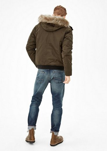s.Oliver RED LABEL Winterjacke mit Kunstpelz