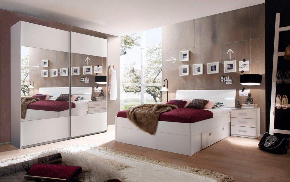 Schlafzimmer-Set, in 2 Ausführungen, Set aus Schrank, Bett und Nachttisch  online kaufen | OTTO