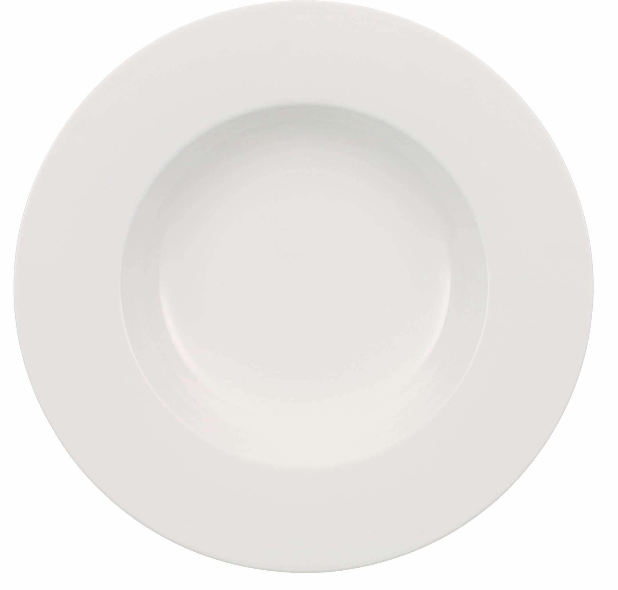 Villeroy & Boch Suppenteller, Premium-Porzellan, 6-teilig, »Wonderful World White«