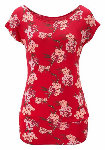 LASCANA Shirt im Blumendesign