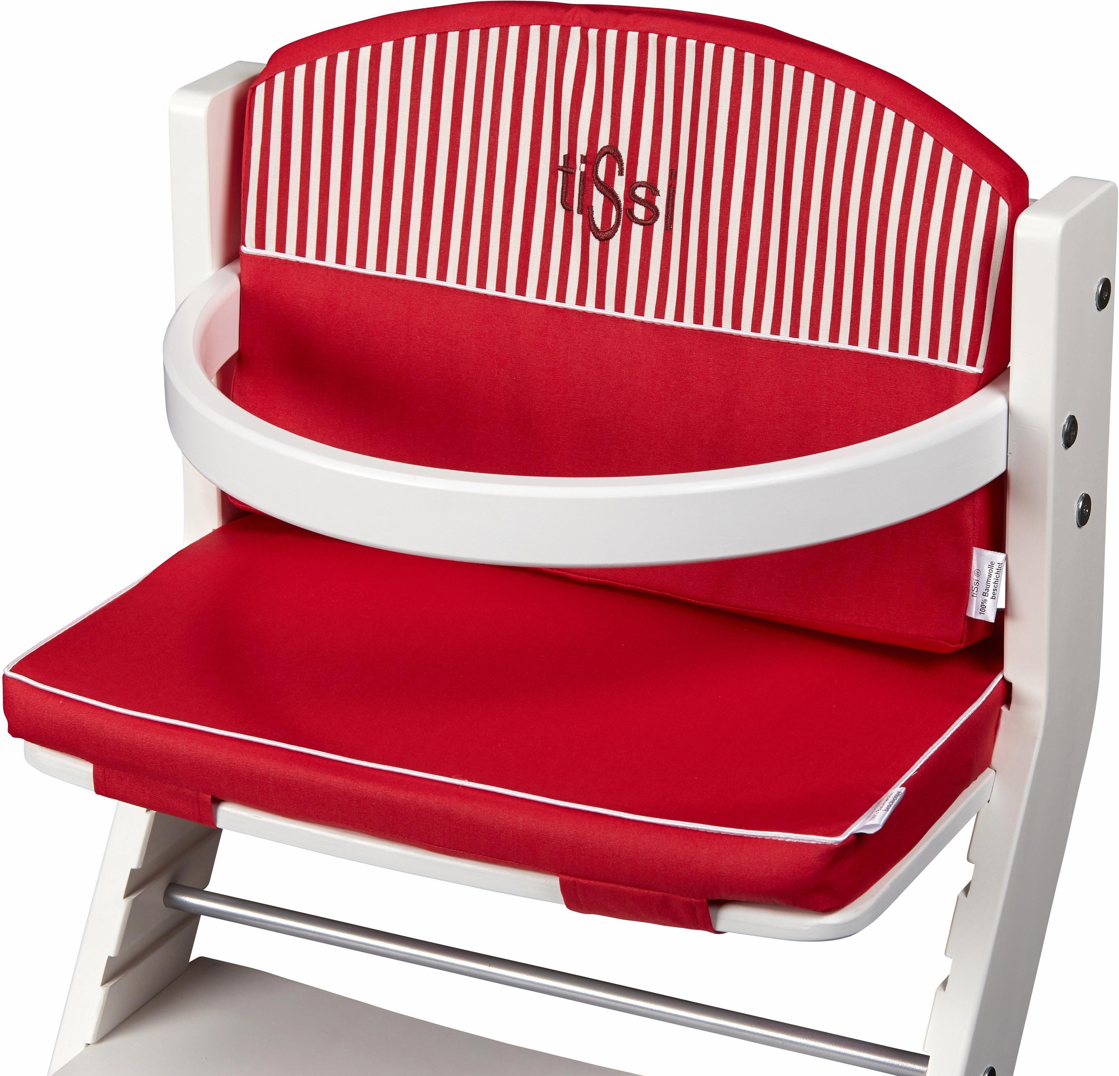 tiSsi® Sitzpolster für Hochstuhl, »Rot-gestreift«   Kinderzimmer > Kinderzimmerstühle > Hochstühle   tiSsi®