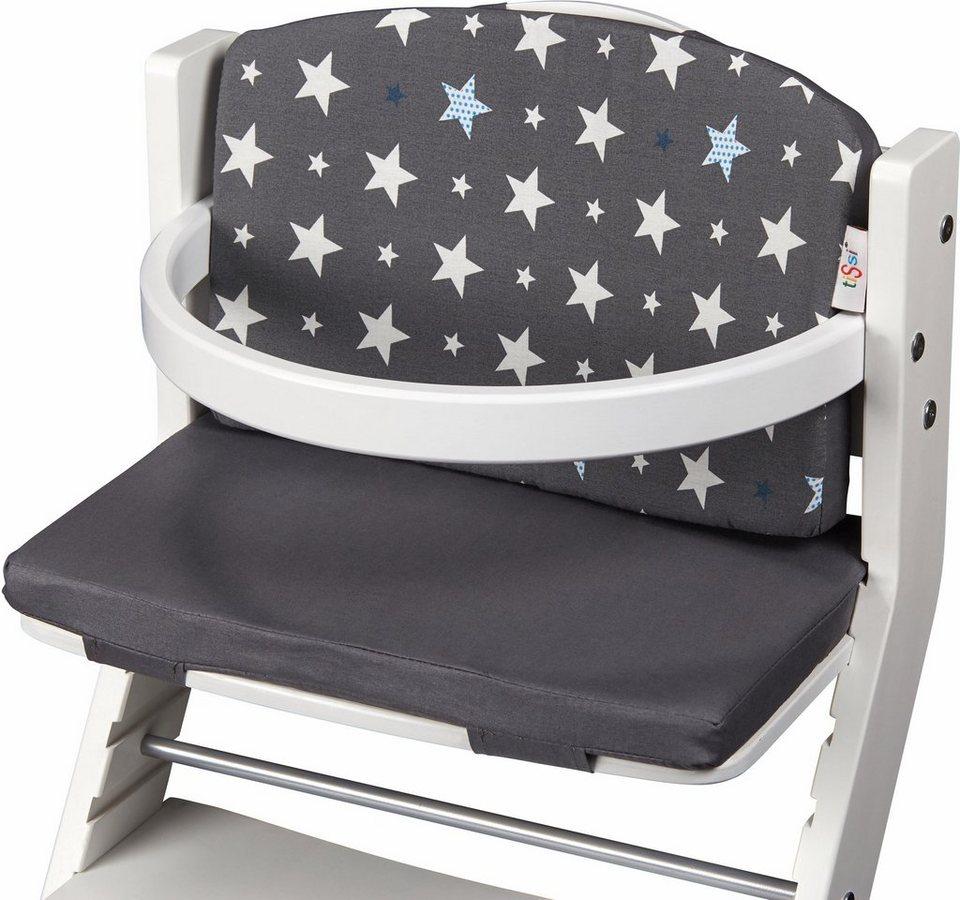 tissi® kindersitzauflage »sterne grau« für tissi