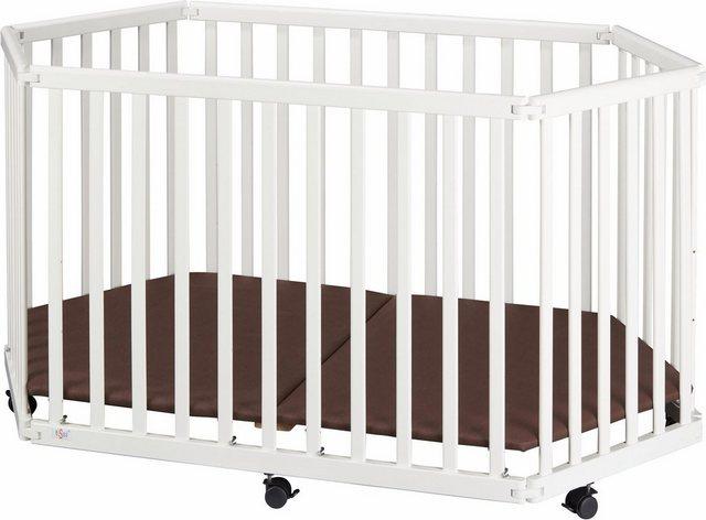 tiSsi® Laufgitter »weiß, 6-eckig«, zusammenklappbar | Kinderzimmer > Babymöbel > Lauf- & Schutzgitter | tiSsi®