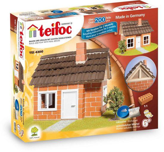 teifoc Konstruktions-Spielset »Fachwerkhaus«, (200 St), Made in Germany