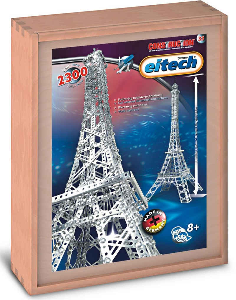 Eitech Metallbaukasten »Eiffelturm«, (2300 St), Made in Germany