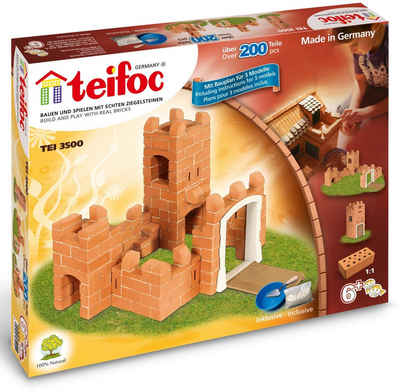 teifoc Konstruktions-Spielset »Burg«, (200 St), Made in Germany