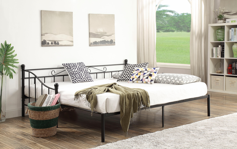 Home affaire Metallbett »Sara« mit dekorativem Kopf- und Fußteil, ausziehbar auf 180/200 cm | Schlafzimmer > Betten > Metallbetten | Metall | Home affaire