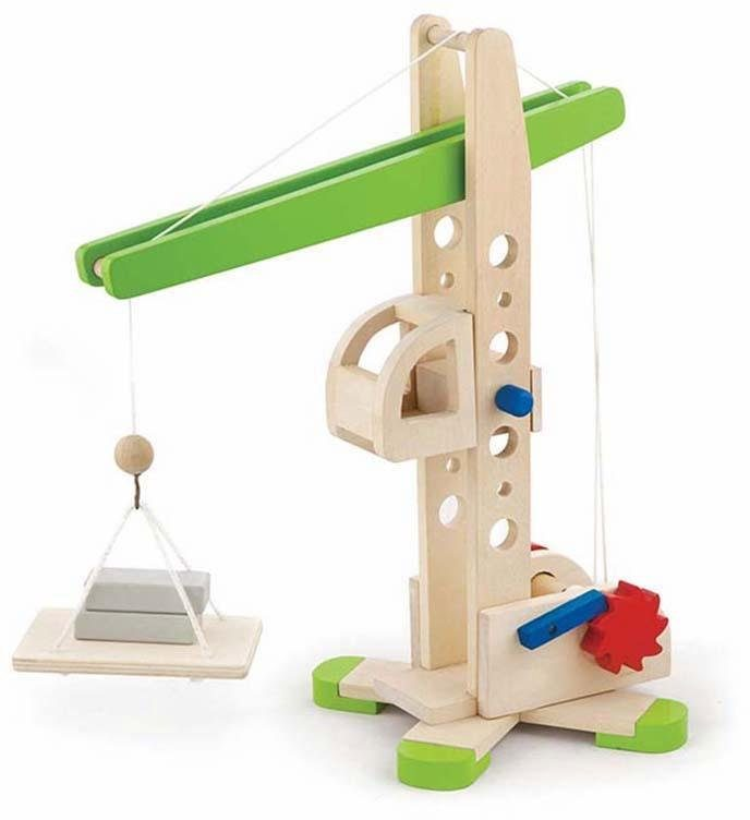 Viga Toys Kreativspielset aus Holz (59698), »Holzkran«