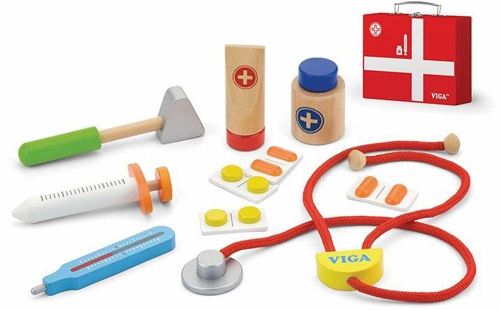 Viga Toys Holzspielset (50530), »Holz Arztkoffer«