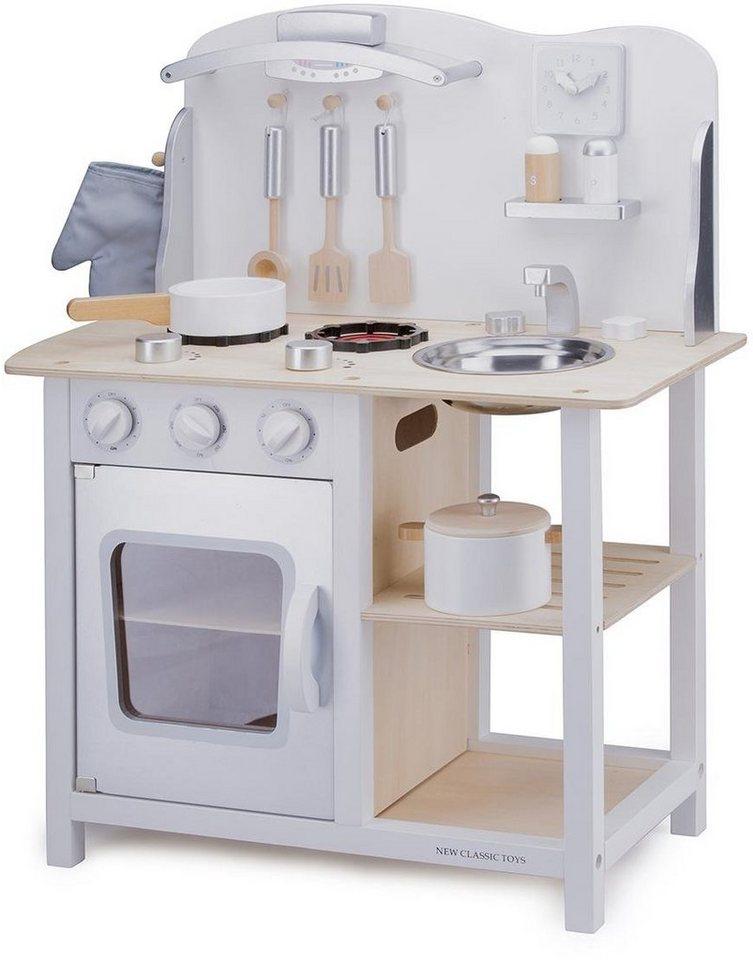 New Classic Toys Holzspielküche (11053), »Spielküche Bon Appetit, Weiß«