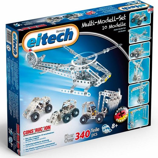 Eitech Metallbaukasten »Multi Set«, (340 St), Made in Germany