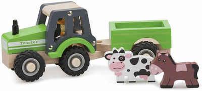 New Classic Toys® Spielzeug-Traktor »Little Driver - Holztraktor«, (Set), mit Anhänger
