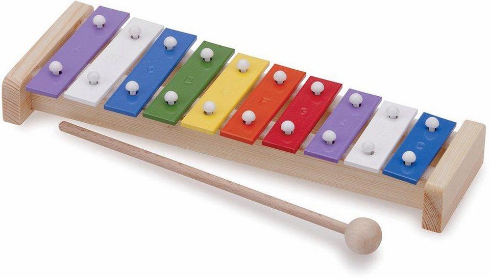 New Classic Toys Xylophon (10215),  Metallophon, 10 Töne  online kaufen