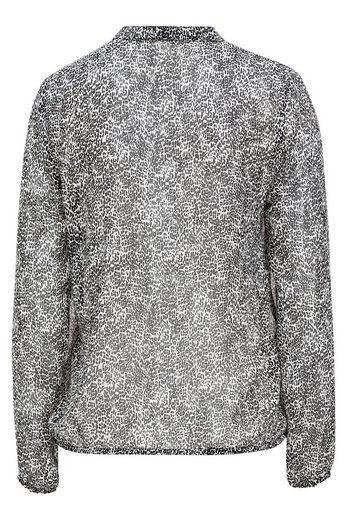 MORE&MORE Bluse mit schwarz/weißem Minimuster