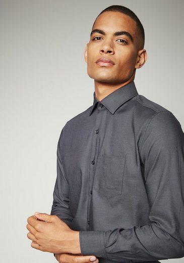 PIERRE CARDIN Hemd in changierender Bicolor-Optik - Modern Fit