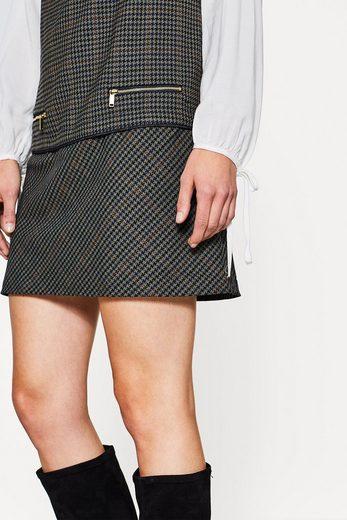 ESPRIT Kurzes Stretchkleid mit Hahnentritt-Muster