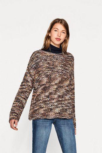 ESPRIT Melierter Grobstrick-Pullover mit Alpaka