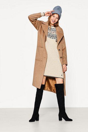 EDC BY ESPRIT Jacquard Kleid mit Woll-Blend