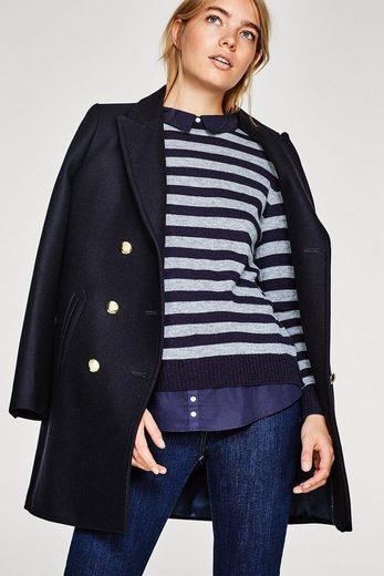 ESPRIT 2-in-1-Look: softer Pullover mit Stoff-Details