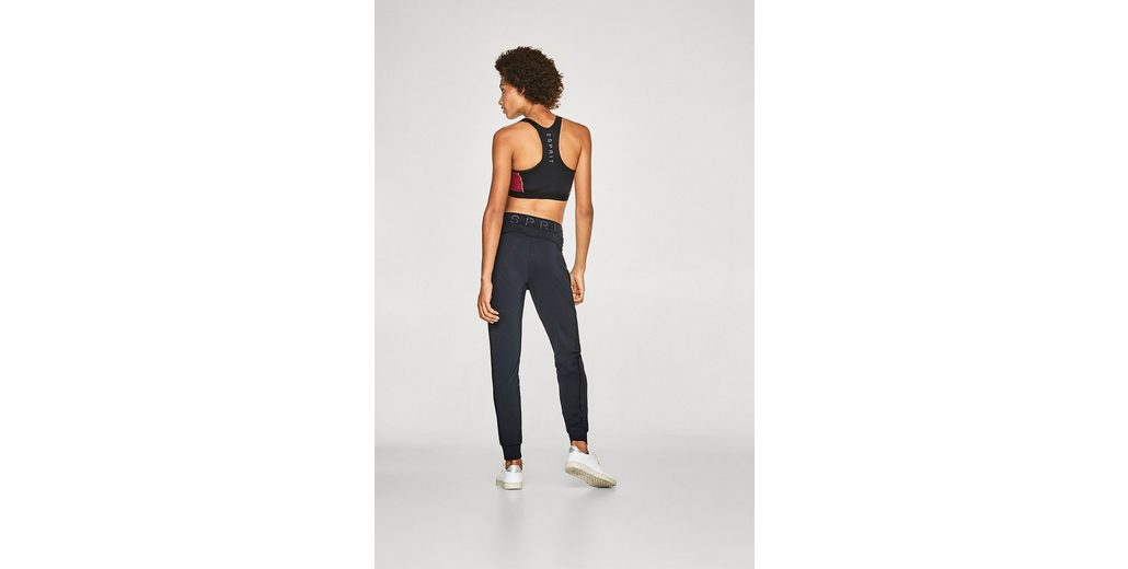 ESPRIT Lockere Active-Pants mit Logobund, E-DRY