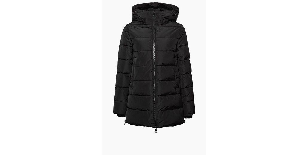 ESPRIT Winterwarme Steppjacke mit Kapuze Spielraum Online Offizielle Seite Kauf LaHA1sHp
