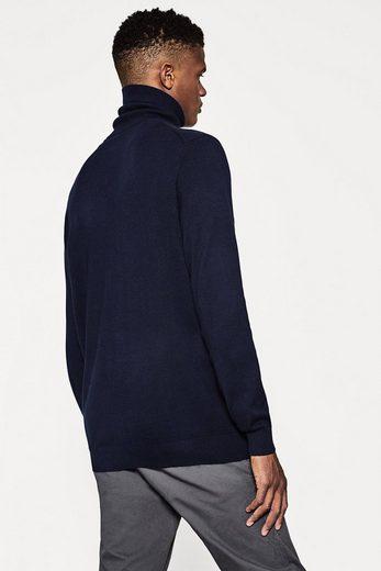 ESPRIT Rollkragen-Pullover aus Baumwolle