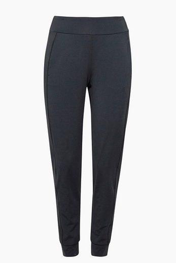 ESPRIT Lockere Active-Pants mit Logobund, E-DRY