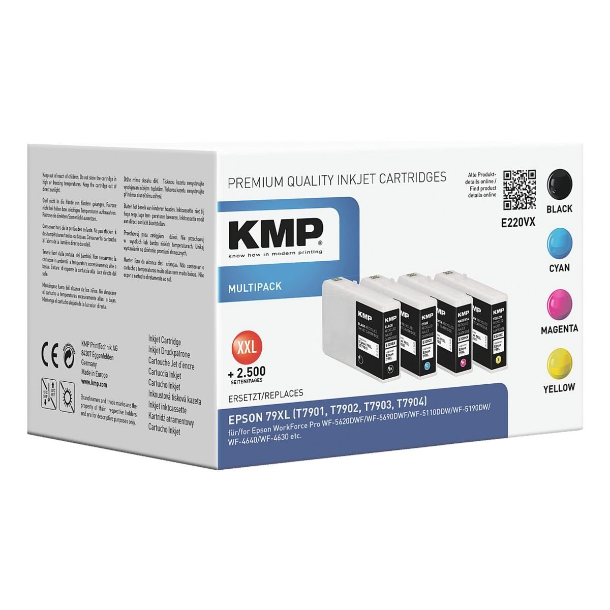 KMP Tintenpatronen-Set ersetzt Epson Nr. 79XL »T7901 / T7902 / T7903 / T7904«