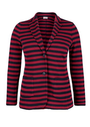 Triangle Striped Blazer From Pique