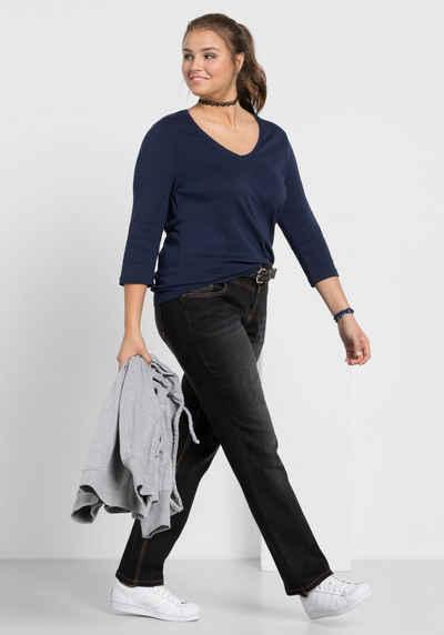 Sheego Stretch-Jeans LANA mit Used-Effekten