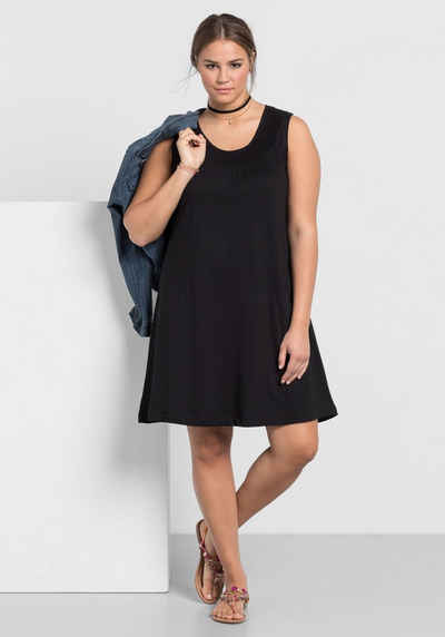Sheego Style Jerseykleid Kariert