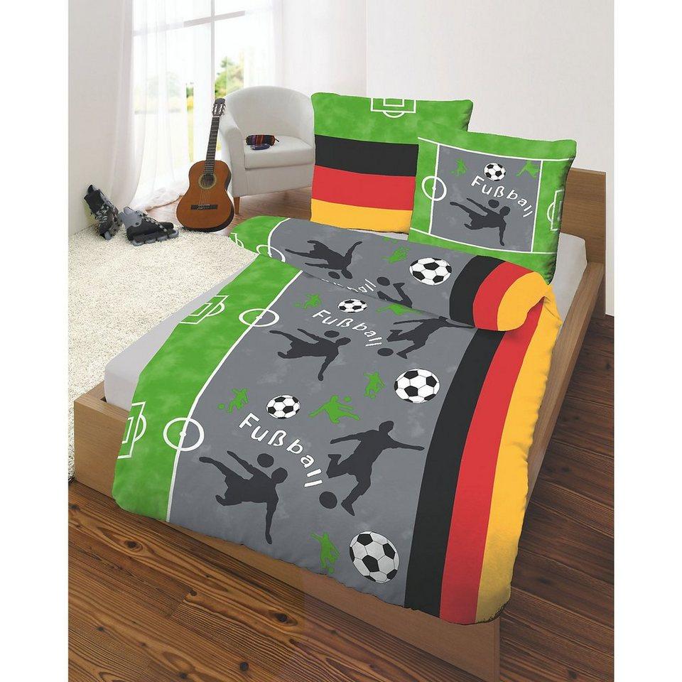 kinderbettw sche fu ball biber 135 x 200 cm otto. Black Bedroom Furniture Sets. Home Design Ideas