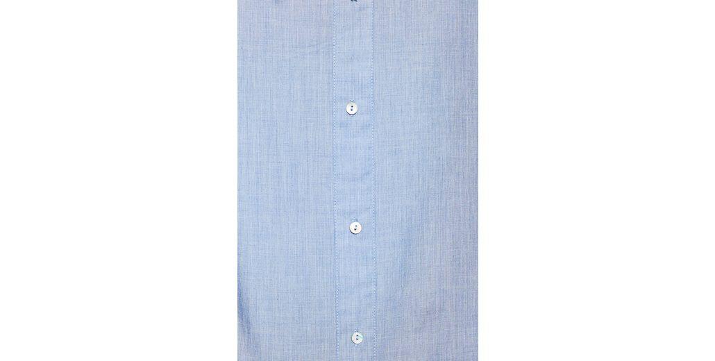ESPRIT Bluse mit Zierknopfleiste, 100% Baumwolle