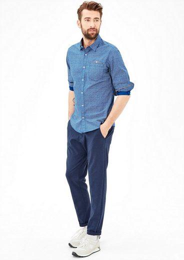 s.Oliver RED LABEL Slim: Gemustertes Hemd mit Brusttasche