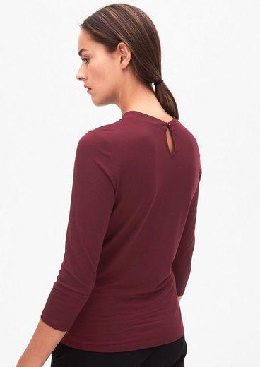 s.Oliver BLACK LABEL Shirt mit drapiertem Ausschnitt