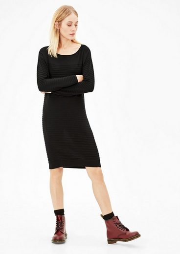 s.Oliver RED LABEL Kleid mit Strickmuster
