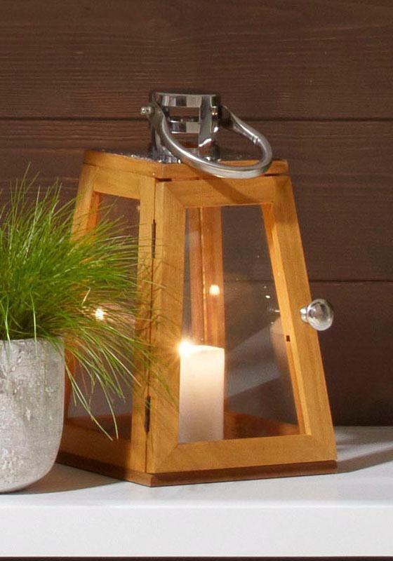 Home affaire Laterne aus naturbelassenem Holz | Dekoration > Kerzen und Kerzenständer > Laternen | Holz - Metall | Home affaire