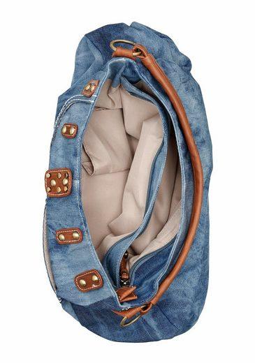 Rieker Hobo, in modischer Jeans-Optik