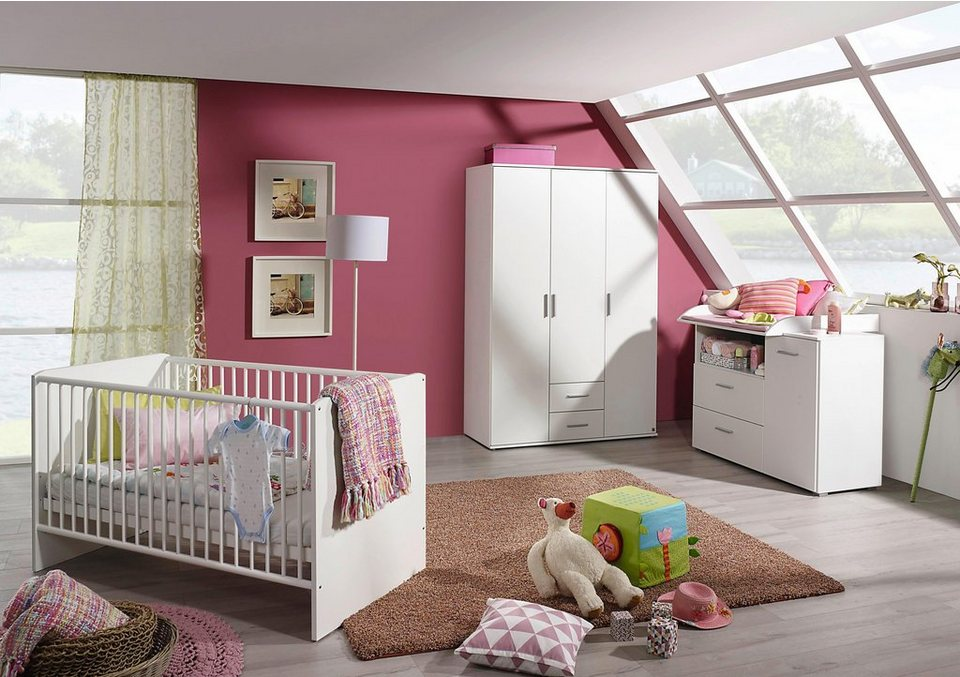 komplett babyzimmer trelleborg babybett wickelkommode gro er kleiderschrank 3 tlg set. Black Bedroom Furniture Sets. Home Design Ideas