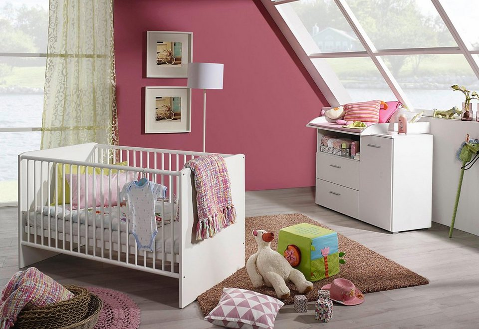 babyzimmer spar set trelleborg babybett wickelkommode online kaufen otto. Black Bedroom Furniture Sets. Home Design Ideas