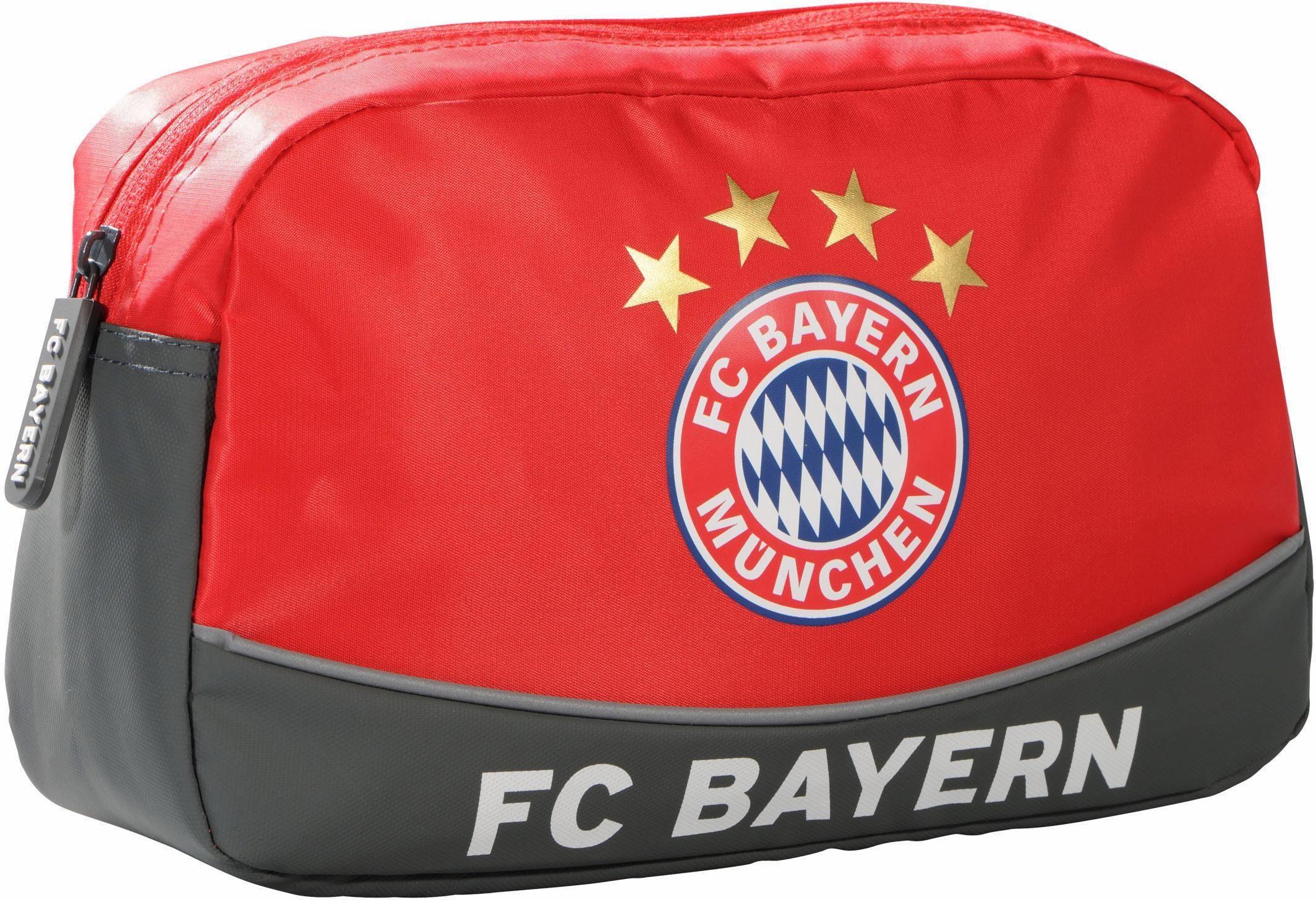 FC Bayern Kulturbeutel, »FCB, rot«