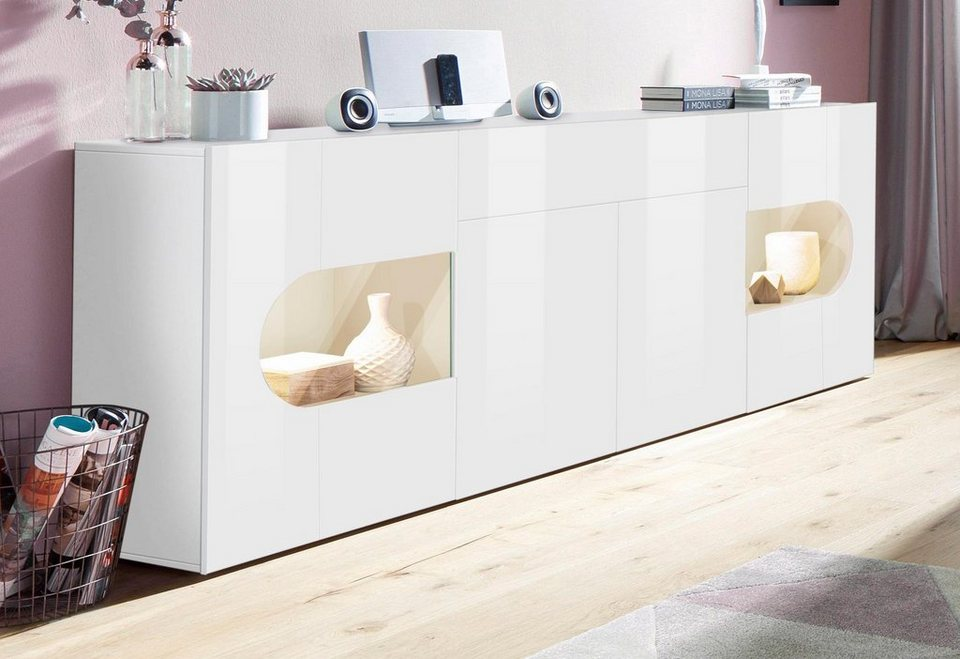 tecnos sideboard real breite 220 cm kaufen otto. Black Bedroom Furniture Sets. Home Design Ideas