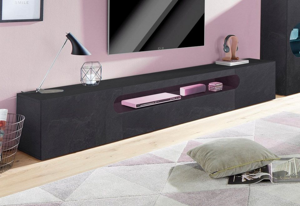 tecnos xxl lowboard real breite 240 cm kaufen otto. Black Bedroom Furniture Sets. Home Design Ideas