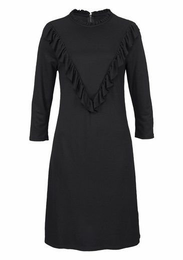 b.young Jerseykleid Samano dress, mit Rüschendetails und Reißverschluss hinten
