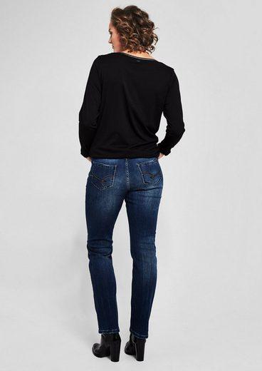 TRIANGLE Curvy Slim: Jeans mit Waschung