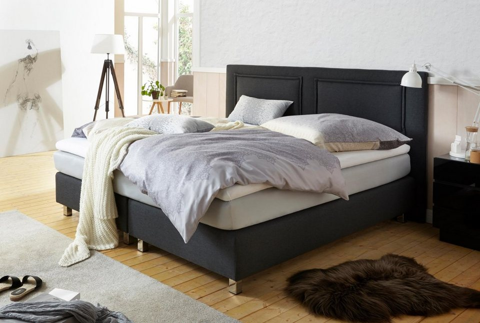 westfalia polsterbetten boxspringbett inkl kaltschaum topper und zierkissen online kaufen otto. Black Bedroom Furniture Sets. Home Design Ideas