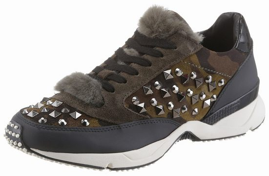 Lola Cruz Sneaker, Im Military-look