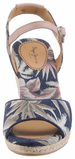 Pepe Jeans SHARK CALIFORNIA Sandalette, mit sommerlichem Print